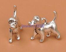 20pcs Tibetan Silver Charm dog Pendant Accessories 16X14mm F3323