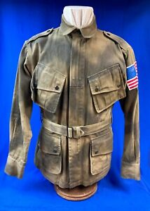 US Army Airborne M42 Paratrooper Jump Jacket with 517th Parachute Vet Autographs