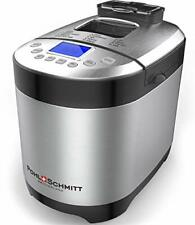 Pohl Schmitt Stainless Steel Bread Machine Bread Maker, Keep Warm, and Recipes