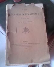 APPERT Léon. Note sur les verres des vitraux anciens. Gauthier-Villars. 1896.