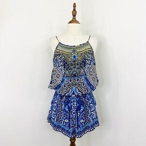 Camilla Franks Womens Under the Medina Moon Playsuit Silk Size XS