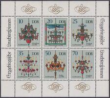 DDR Keinbogen 3289-94 A postfrisch (Leuchterspinnen)