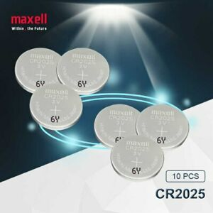 Maxell Lithium Battery, 10x CR2025 3V, Coin Cell Button Battery (Pack of 10) UK