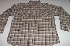 BIG MAC Men's Pearl Snap LS Shirt - XL X-Large - Western -Plaid- FREE SHIPPING