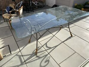 Lovely Large Glass Table Metal Base