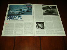 STEVE SALEEN MUSTANG GENERAL TIRE ESCORT RACE CAR ***ORIGINAL ARTICLE***