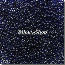 20 grs de Perles de rocailles Tchèque bleu nuit Marque Ornella
