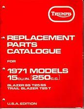 1971 Triumph Blazer SS, T25 SS, Trail Blazer T25T, OIF, OEM Parts Book, F/SH