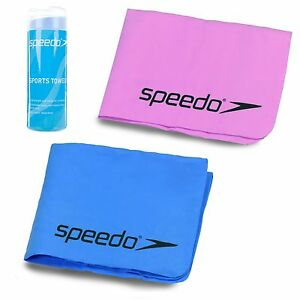 SPEEDO SPORTS PVA TOWEL WITH CASE SWIMMING GYM QUICK DRYING AND COMPACT