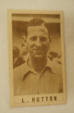 1940's Vintage G.J.Coles Cricket Card - L. Hutton - Yorkshire.