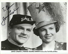 JOAN LESLIE autographed 8x10 photo    WITH JAMES CAGNEY    SIGNED TO BRIAN