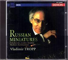 Vladimir Tropp: RUSSIAN MINIATURES lyadov Medtner Rachmaninov Tchaïkovski DENON