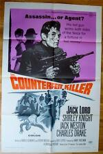 COUNTERFEIT KILLER English Orig Movie Poster 1968 FOLDED One Sheet 1SH assassin?