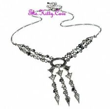 Geometric Deco Vintage Hollywood Glamour Black Star Necklace W Swarovski Crystal