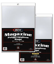 10 Magazine Resealable Bags And Boards 8 7/8 x 11