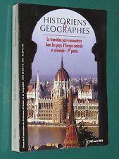 Revue Historiens & géographes 382 mars 2003 la transition post-communiste
