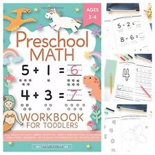 Beginner Math Preschool Toddlers Ages 2-4 Learning Book Number Tracing Matching
