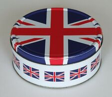 UK Union Flag (Jack) Biscuit/Cake Tin with Lid (used)