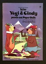 """Yogi & Cindy� 1974 Wonder Books Uncut Paper Dolls Vintage"
