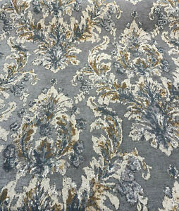 Upholstery Chenille Mill Creek Tradition Mineral Gray Fabric By The Yard