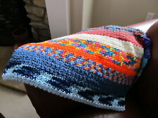 Handmade Crochet Sofa Lap Blanket Multi-Color - New
