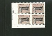Canada 929i lower left mint nh plate block- brown background variety Cat $250 R7