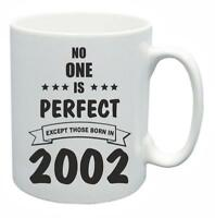 17th Novelty Birthday Gift Present Tea Mug No One Is Perfect 2002 Coffee Cup