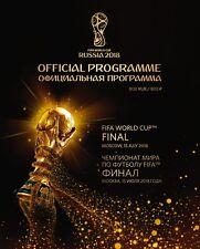 Programme : France v Croatia - World Cup Final - 15 July 2018 - Rare RUB Edition