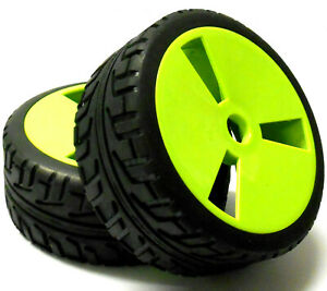 180015 1/8 Scale On Road Buggy RC Wheels and Tyres Disc Light Green x 4