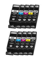10 PGI525 CLI526 Multipack Ink Cartridges For Canon MG5320 MG5350 MG6250 Non OEM
