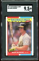 1987 Fleer Baseball's Best #26 Mark McGwire RC SGC 9.5 = PSA 9.5? MINT+