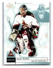 (HCW) 2002-03 UD Mask Collection #65 Brian Boucher/Sean Burke Coyotes