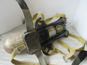 Old Vintage Scuba U.S.Divers Aqua-Lung Backpack and Small Steel Tank