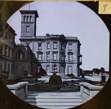 Osborne House from upper ter, Isle of Wight, England, Magic Lantern Glass Slide