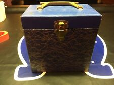 "Vtg Blue Carrying case 45 7"" EP Tote"