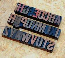A-Z Buchstaben 36 mm Plakatlettern Buchstaben Lettern Buchstabenstempel vintage