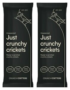 Crunchy Critters edible insects bugs Crickets x 2 packs
