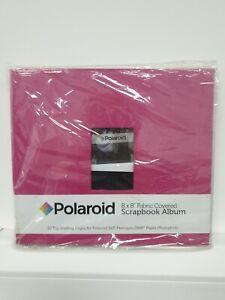 Polaroid PL2X3SBR Pink Textile Photo Album and Sheet Protector