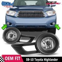 For 11-12 Ford Explorer Winjet OE Factory Fit Fog Light Bumper Kit Clear Lens