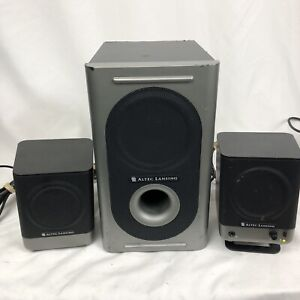 Altec Lansing 221 Amplified 2.1 Computer Audio Speaker System w/Power Subwoofer