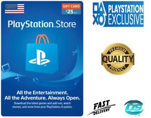 PlayStation Network $25 USD - 25 US Dollar PSN Store Key Code - PS4 PS3 PSP – US