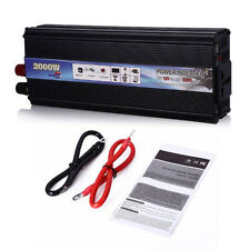 2000W Car Power Inverter DC 12V to AC 220V Modified Sine Wave Adapter Converter