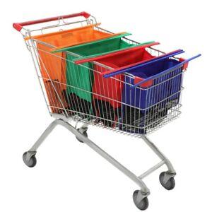 4PCS Shopping trolley bag Supermarket Large Folding Durable Eco-Friendly Bags