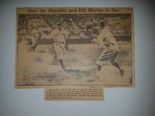Bill Werber Fay Thomas Jack Burns 1935 Des Moines Register Picture