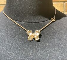 Authentic Christian Dior Gold Butterfly Necklace In Dior Pouch Worn Twice