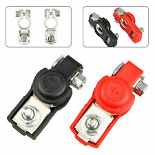Pair Battery Terminal Cable Clamp Negative Positive Top-Post for Toyota Chevy