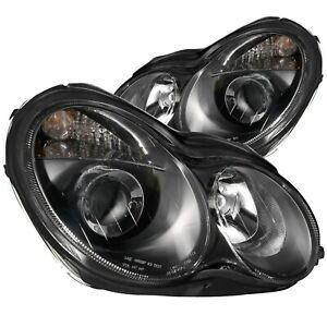 ANZO USA 121079 Projector Headlight Set For 2001-2007 Mercedes Benz C Class W203