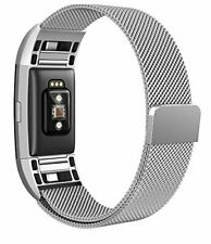 North Stainless Steel Milanese Loop Mesh Band to FITBIT CHARGE 2 Magnetic Clasp