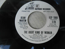 """DEAN MARTIN-THE RIGHT KIND OF WOMAN-WHAT'S YESTERDAY-7"""" SINGLE-WL PROMO-NM"""