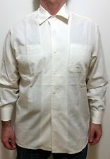 GIANFRANCO FERRE Casual Chic IVORY Button Up/Long Sleeve COTTON SHIRT 41/16 EUC!